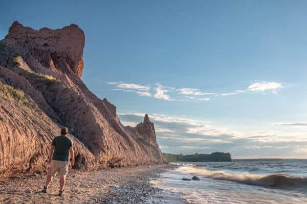 Chimney Bluffs State Park from the beach