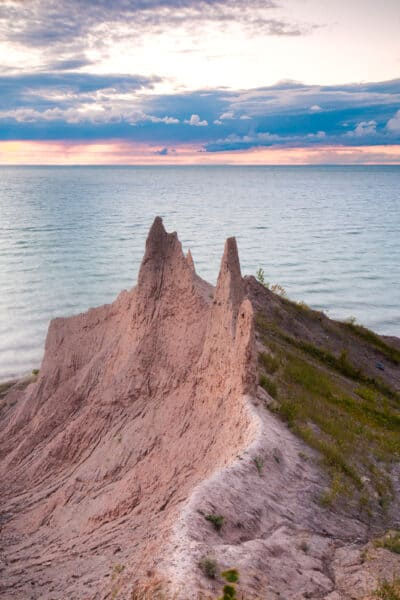 Drumlins at Chimney Bluffs State Park in Wayne County New York