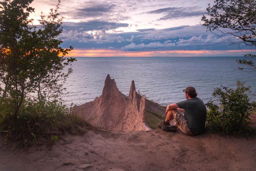 Sunset at Chimney Bluffs State Park in Wayne County, New York