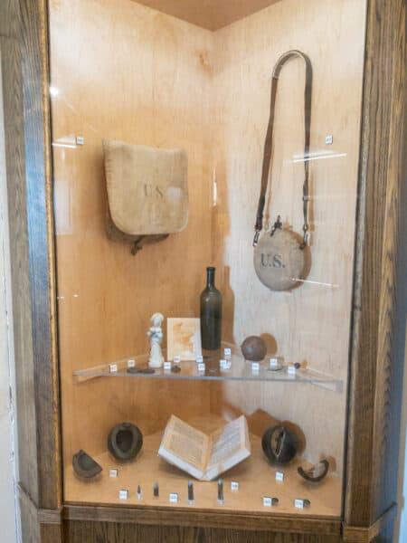 Displays inside Fort Ontario in Upstate New York