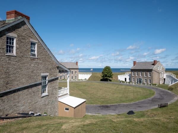 View from the walls of Fort Ontario State Historic Site in Oswego NY