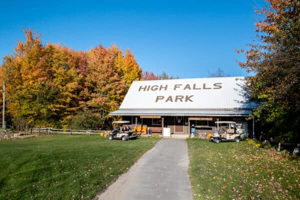 Camp store at High Falls Campground in Chateaugay, NY