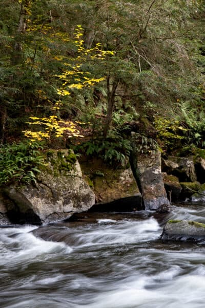 The Chateaugay River in High Falls Campground in Upstate New York
