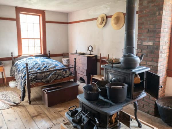 One of the rooms inside John Brown's house in New York