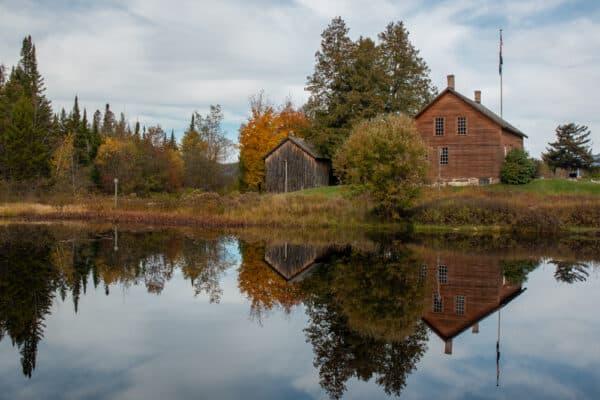 Reflection of John Brown Farm in North Elba NY
