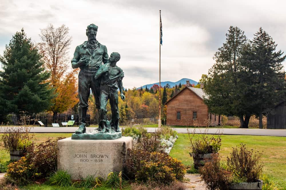 Statue of John Brown at the John Brown Farm near Lake Placid, New York