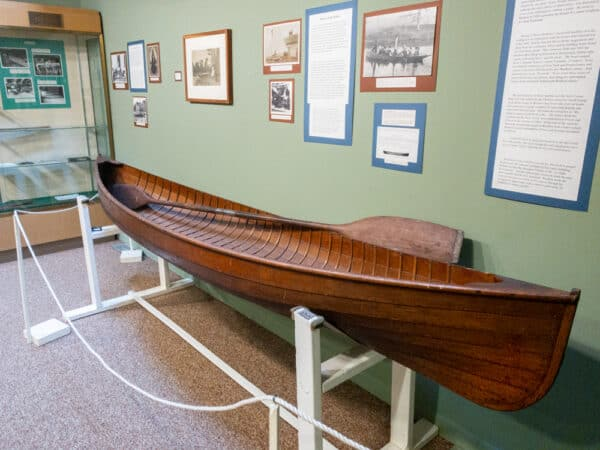 Canoe at the St. Lawrence County Historical Association Museum in Canton NY
