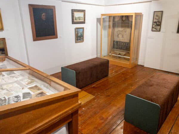 Displays inside the SIlas Wright House in Canton NY