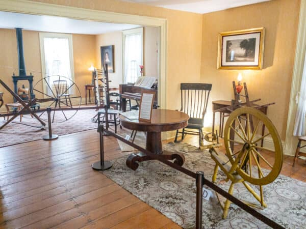 Displays inside the Silas Wright Home in Canton New York