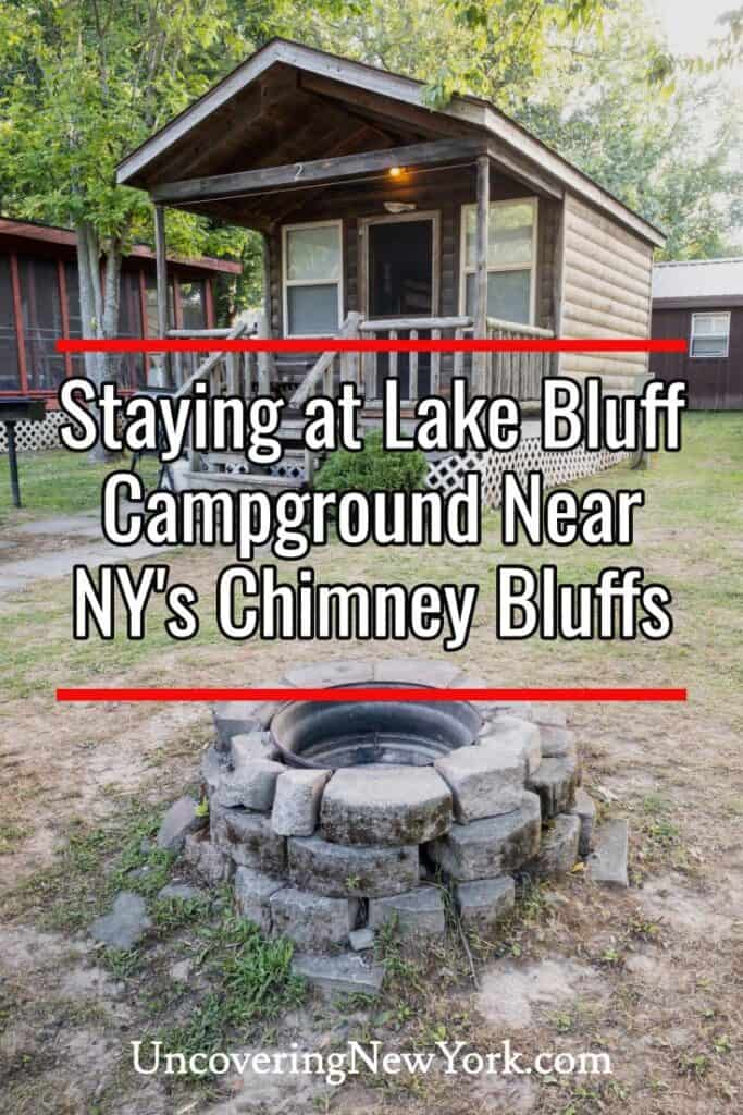 Lake Bluff Campground near New York's Chimney Bluffs State Park