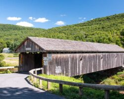 Visiting Fitches Covered Bridge in Delaware County, New York