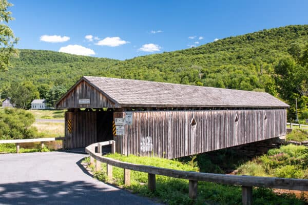 Fitches Covered Bridge in Delaware County New York