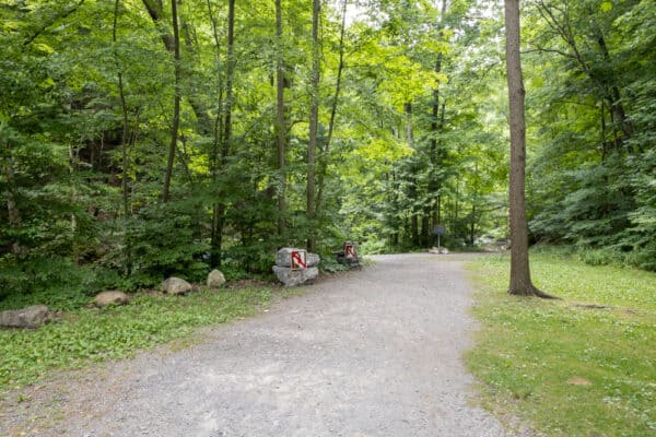 Trail to Grimes Glen waterfalls in Naples, New York