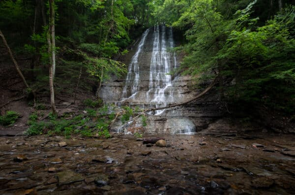 First Waterfall in Grimes Glen in Naples, New York