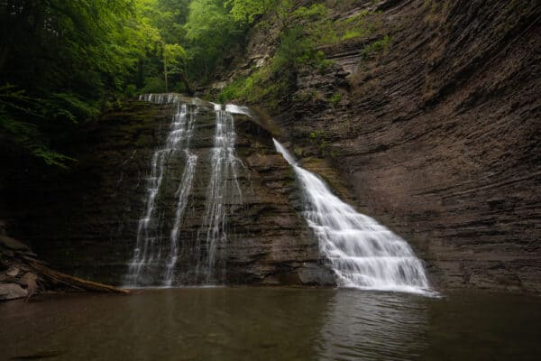 The second waterfall in Grimes Glen in Ontario County, NY