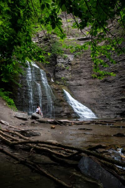Waterfall in Grimes Glen in Ontario County NY