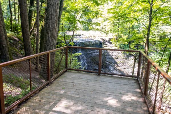 Viewing platform at Yatesville Falls in Montgomery County NY