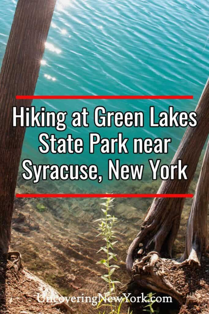 Green Lakes State Park in Syracuse New York