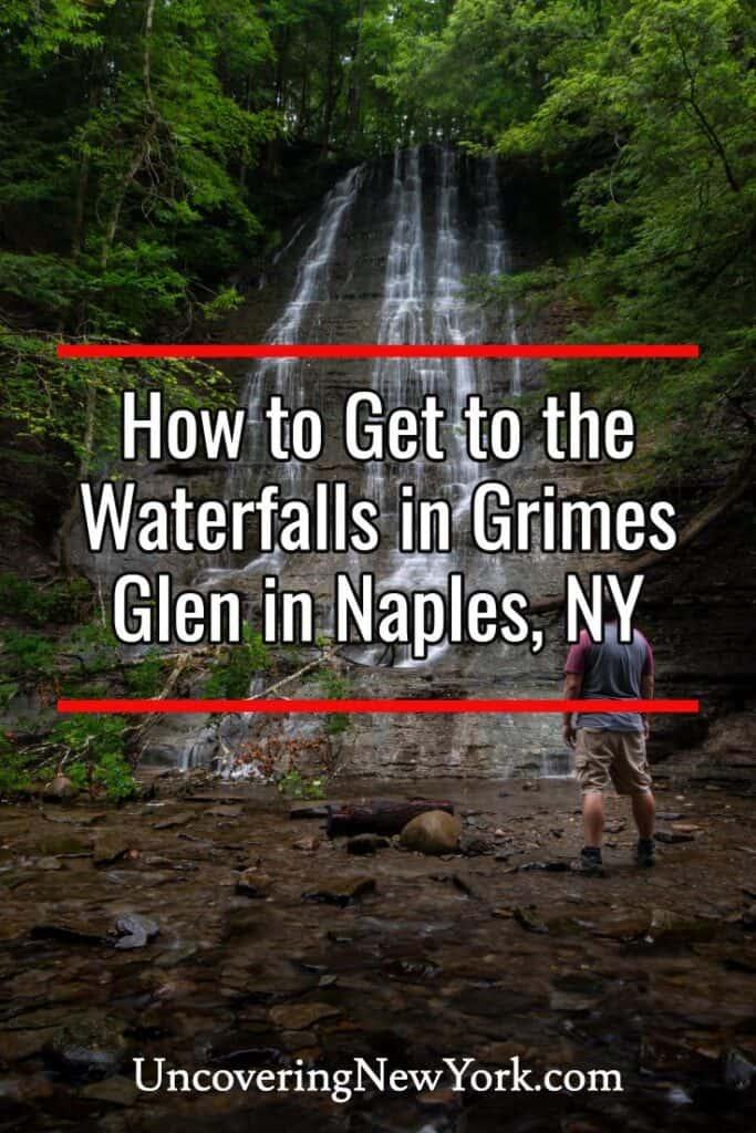 Waterfalls in Grimes Glen in Naples New York