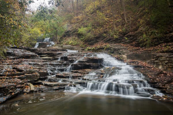 A small waterfall on Cornell University's campus