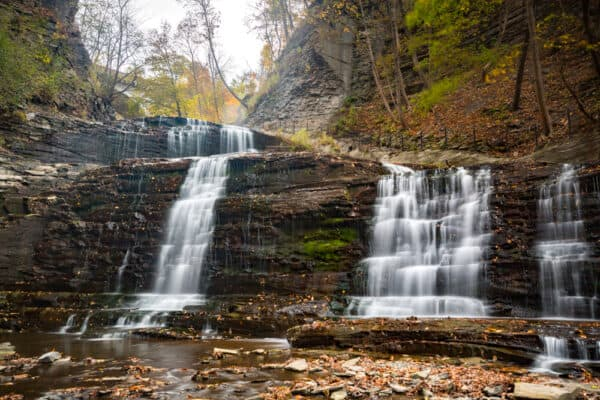 Cascadilla Gorge waterfall in Tompkins County New York