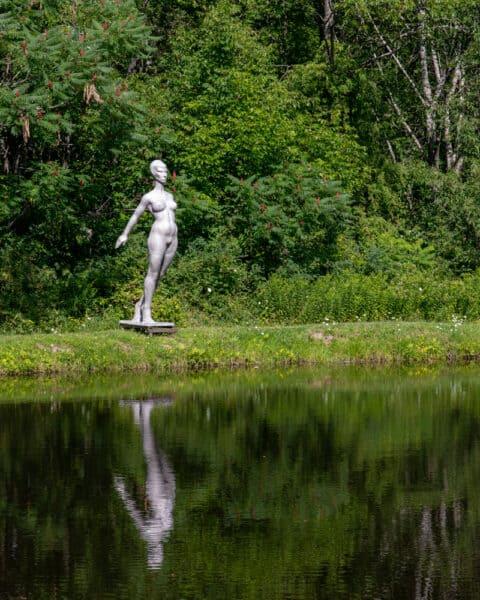 Bathers statue in Griffis Sculpture Park near Ellicottville New York