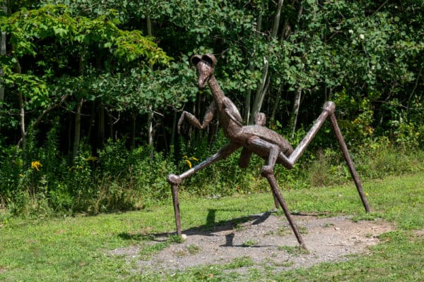Giant bug sculpture at the Griffis Sculpture Garden in Southwestern NY