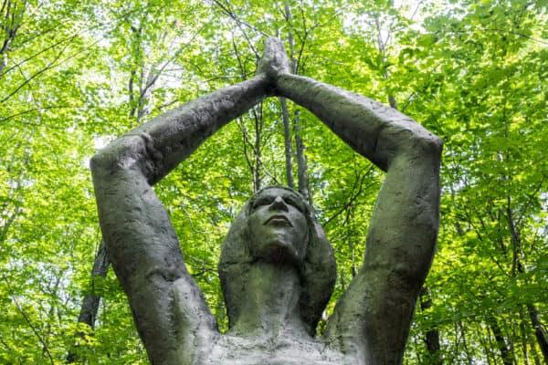 Sculpture in Griffis Park near Buffalo NY