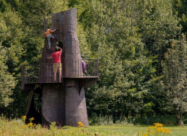 Castle in Griffis Sculpture Park near Endicottville New York