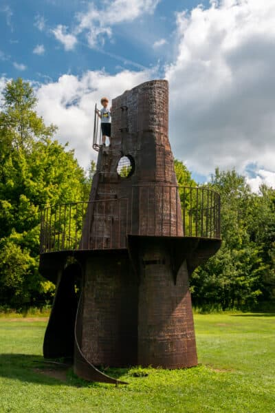 Castle Tower at Griffis Sculpture Park in western New York