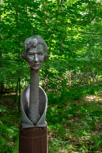 Griffis Family Heads at Griffis Sculpture Park in New York