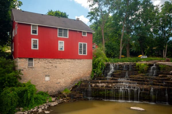 Honeoye Falls at the old saw mill in Monroe County New York