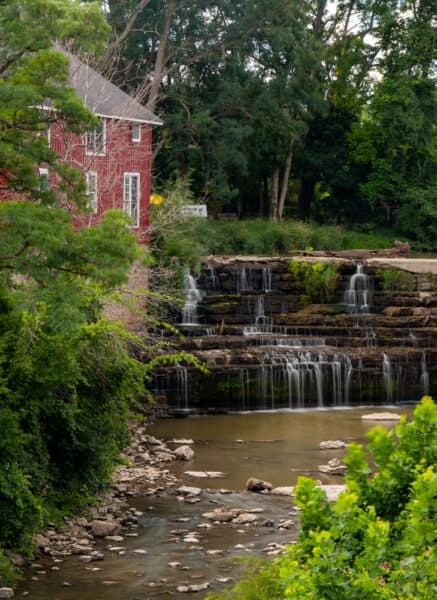 View of Honeoye Falls from the East Street bridge in Monroe County NY
