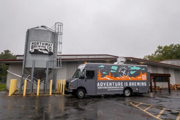The exterior of Northway Brewing Company in Queensbury, New York.
