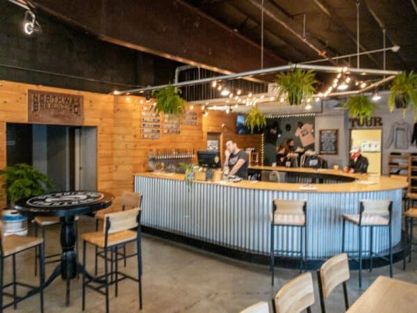 Inside Northway Brewing Company near Lake George New York