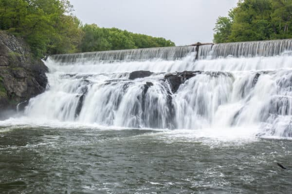 Close up view of Stuyvesant Falls in the Hudson Valley