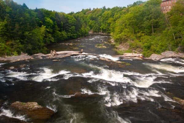 Lower Stuyvesant Falls on Kinderhook Creek in Columbia County New York