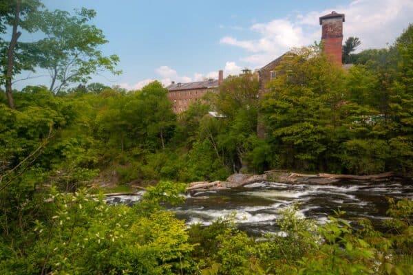 Factory on Kinderhook Creek in Stuyvesant Falls New York