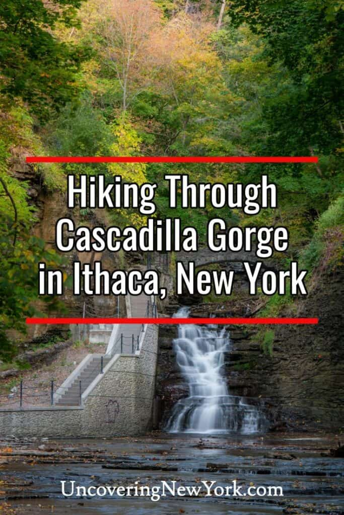 Hiking in Cascadilla Gorge in Ithaca New York