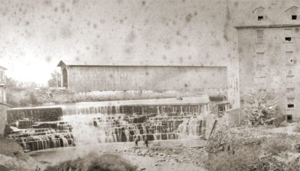 Historic image of Honeoye Falls in the Finger Lakes