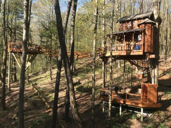 Chez Rest Treehouse in the Adirondacks of New York