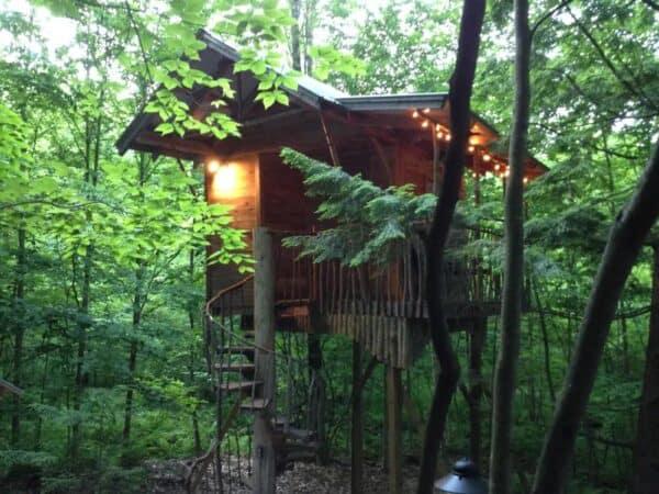 An Adirondack Tree House in New York