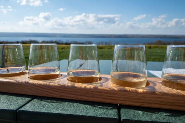Wine tasting at Boundary Breaks in the Finger Lakes of New York