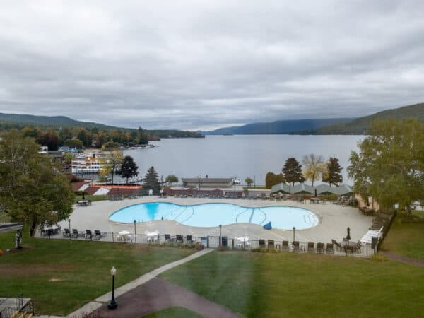 View from the Fort William Henry Hotel in Lake George New York