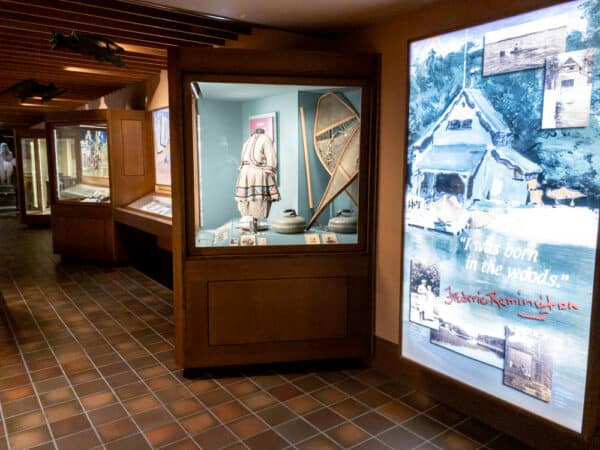 Displays inside the Frederic Remington Museum in Ogdensburg, New York
