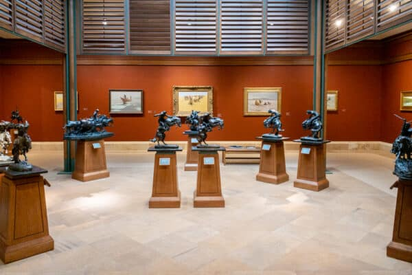 One of the galleries in the Frederic Remington Museum in Ogdensburg, New York