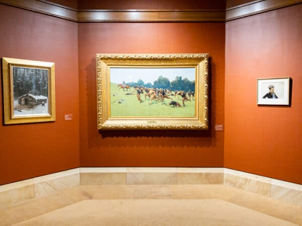 Paintings in the Frederic Remington Museum in Ogdensburg, New York