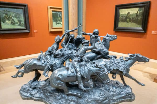 Sculpture in the Frederic Remington Museum in Ogdensburg, New York