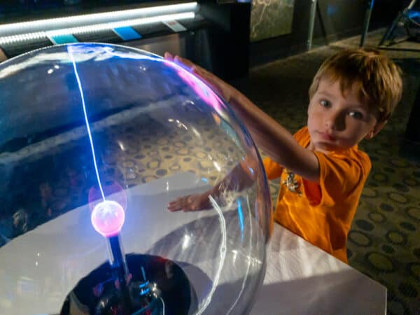 Boy playing at the Buffalo Museum of Science in New York