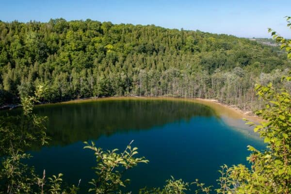 Crater Lake in Clark Reservation State Park near Syracuse, NY